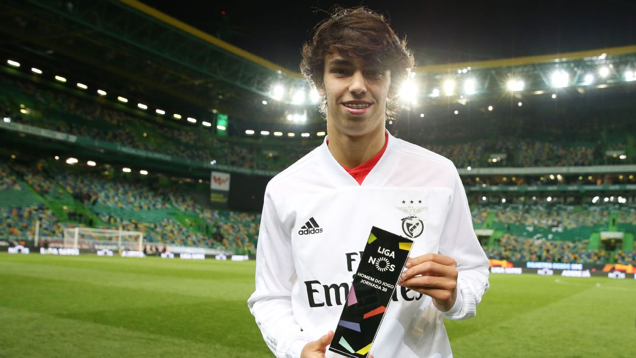 Benfica starlet Joao Felix poses after derby victory over Sporting Lisbon