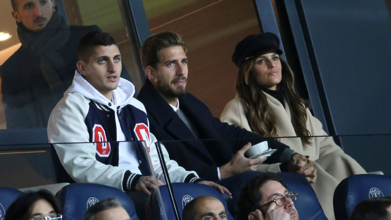 PSG's Marco Verratti has suffered another injury that could thwart his race against time to be fit to face Man United on Feb. 12.