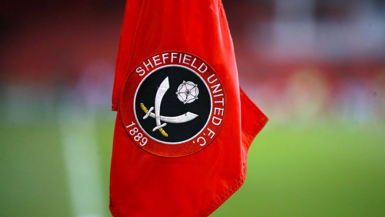 A Sheffield United corner flag ahead of the Sky Bet Championship match at Bramall Lane