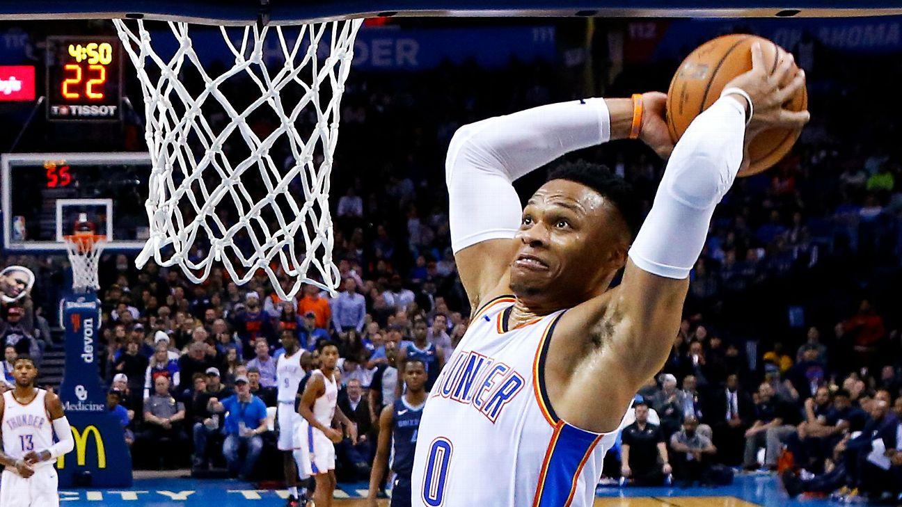 Russell Westbrook passes Michael Jordan for longest triple-double