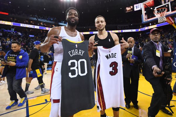 f99b3ad5662f Steph Curry prods Dwyane Wade   Are you sure you don t have a couple ...