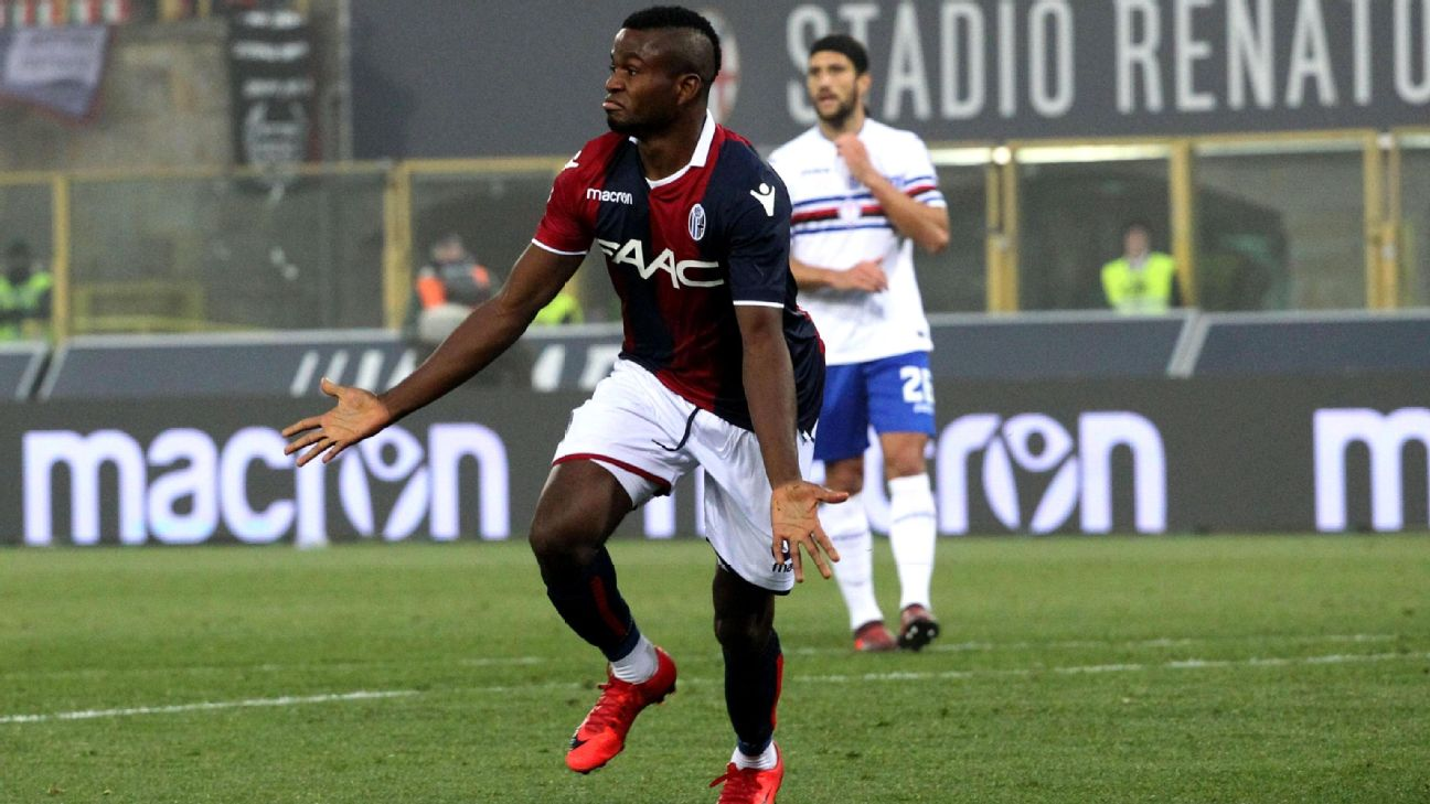 Impact acquires Nigerian striker Orji Okonkwo on loan from Bologna