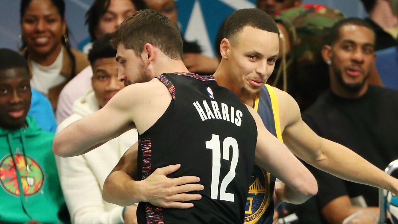 ebd4b3a18d67 Nets  Joe Harris shocks Warriors  Stephen Curry for 3-point title