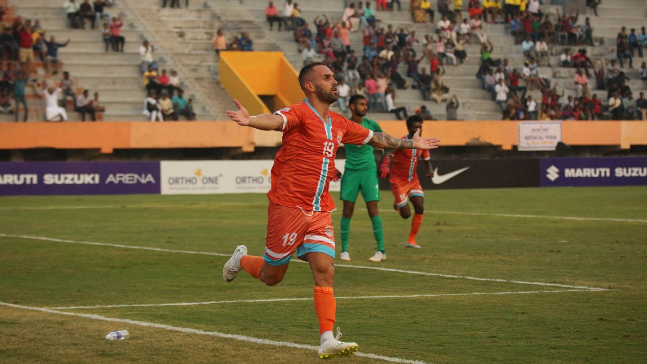 Chennai's Pedro Manzi is the league's joint-top scorer with 18 goals from 15 games.