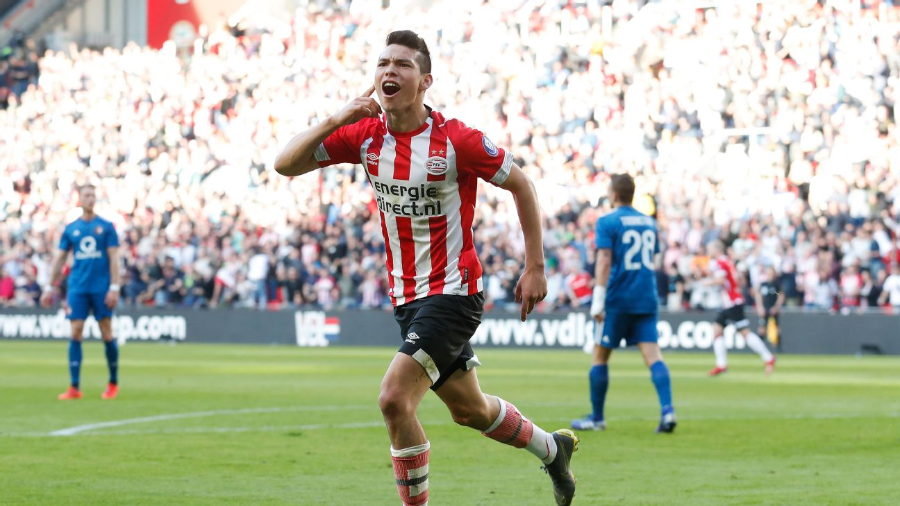 Hirving Lozano's super finish brought the 23-year-old up to 14 league goals on the season for PSV.