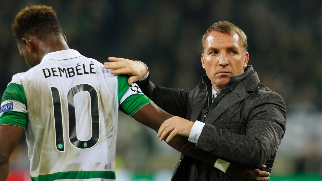 Moussa Dembele and Brendan Rodgers won six trophies together but things ended badly between the two in Glasgow.