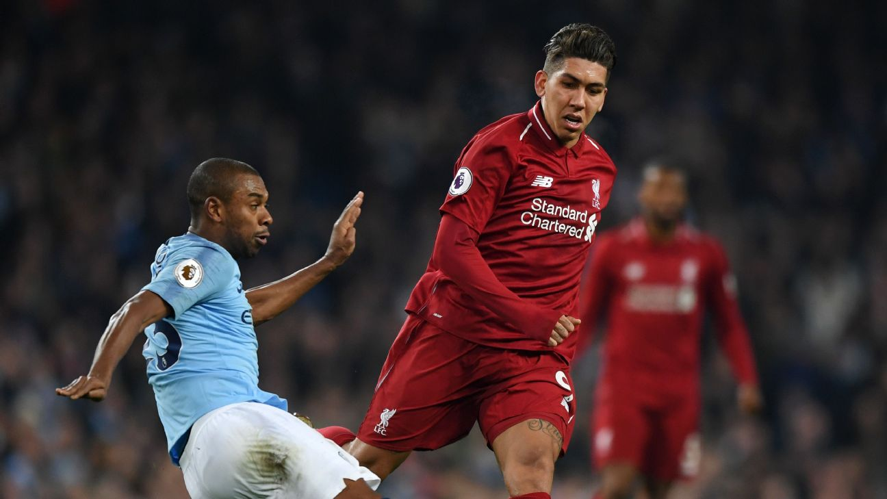 With Fernandinho and Roberto Firmino both injured, whichever club copes best without them could have an edge in a extra-close title race.