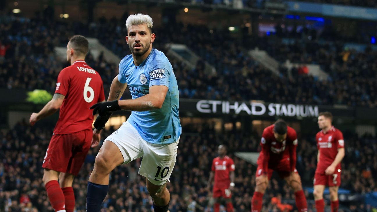 Can Golden Boot frontrunner Sergio Aguero and Man City catch Liverpool and win their fourth Premier League title this decade?