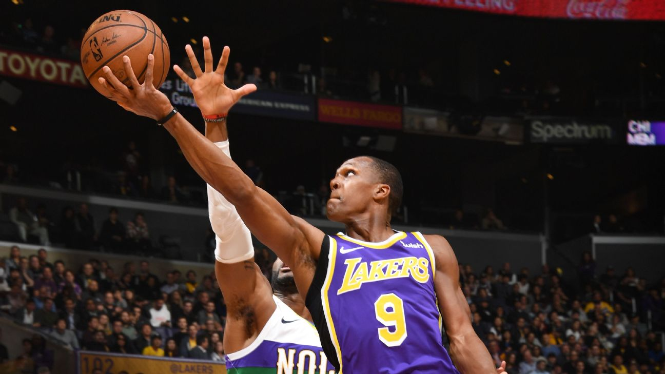 b90c5277e930 Rondo sparks Lakers after meeting with Walton