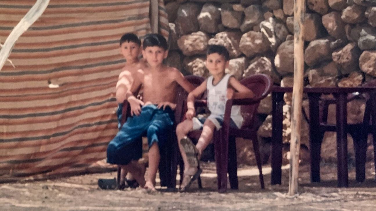 The Zetuna brothers: Yousuf (left), Simon (center) and Yohan (right) were refugees in a UN camp in Turkey for 10 months.