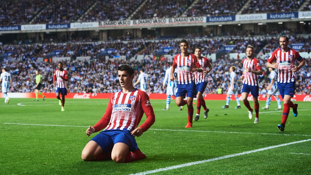 d496cc290727 Alvaro Morata looks like he s found home at Atletico even with his Real  roots