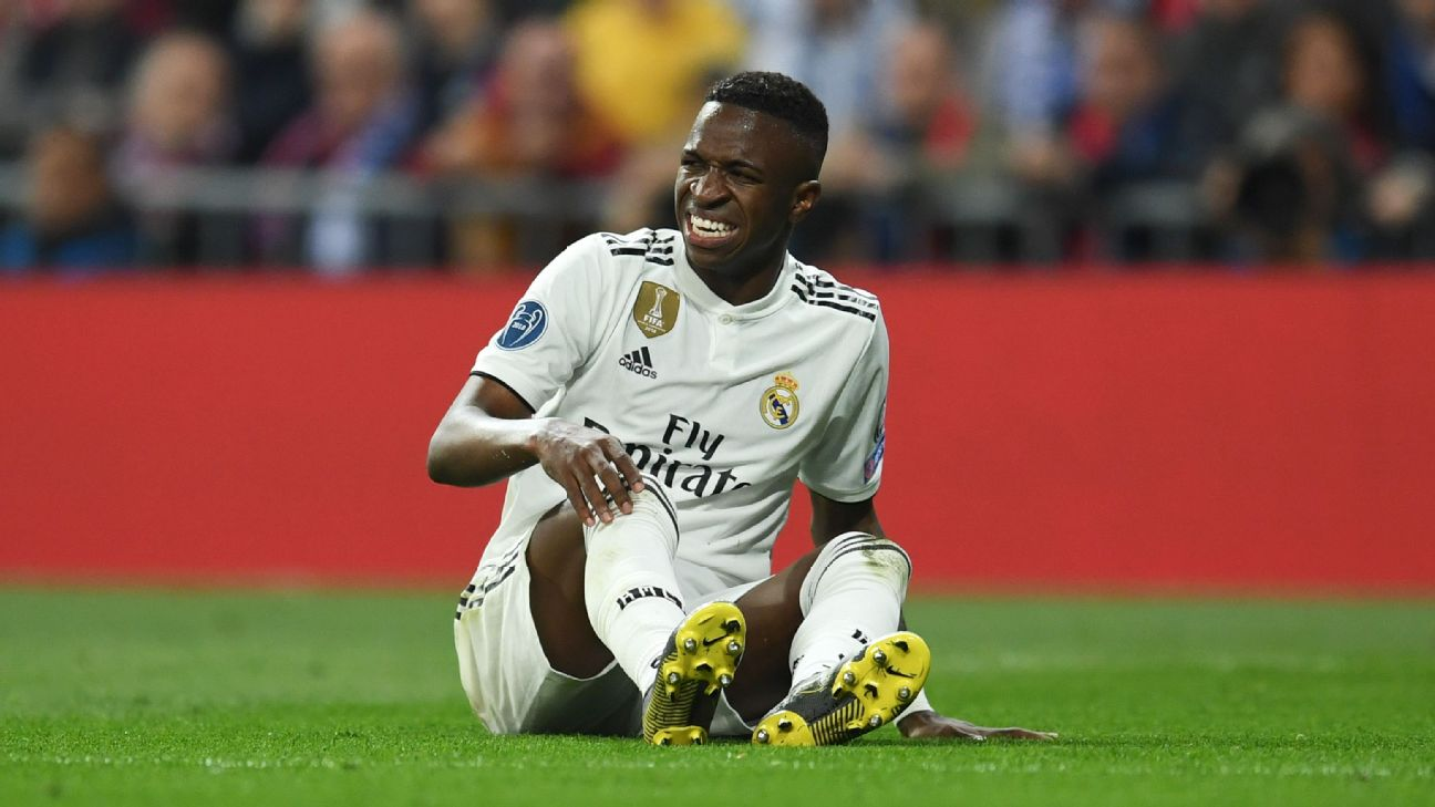 f47e96929 Real Madrid s Vinicius Junior facing two months out with ligament injury