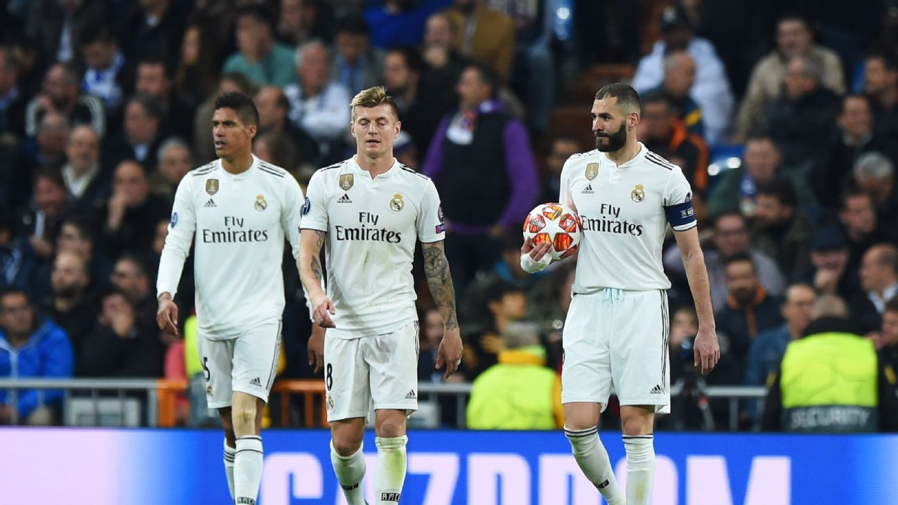 Toni Kroos, center, had a night to forget, the German looking uncharacteristically rattled against Ajax.