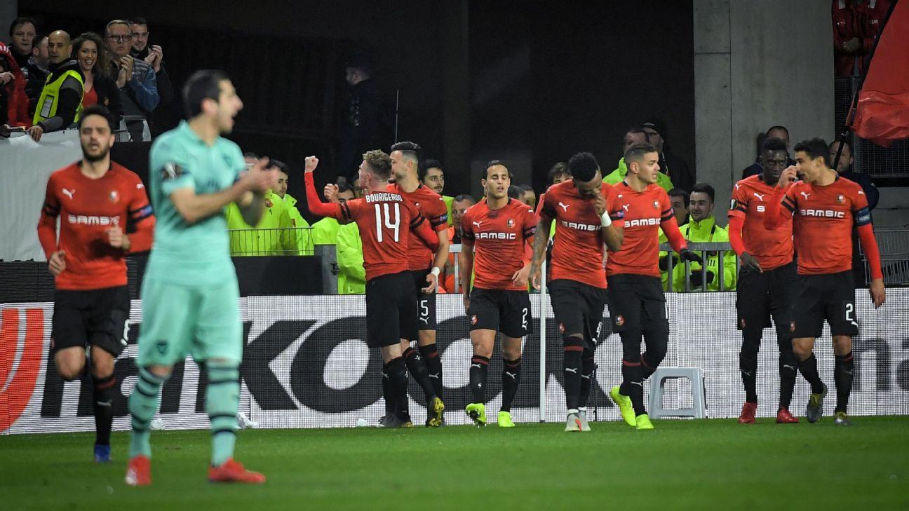 Arsenal leva virada do Rennes na França e se complica para jogo da volta  pela Europa League 83d133852a5