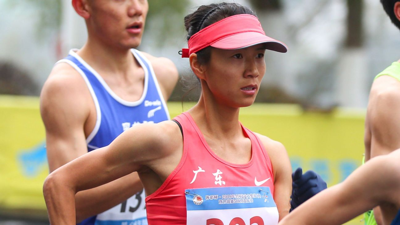 Chinese woman sets record for 50K race walk