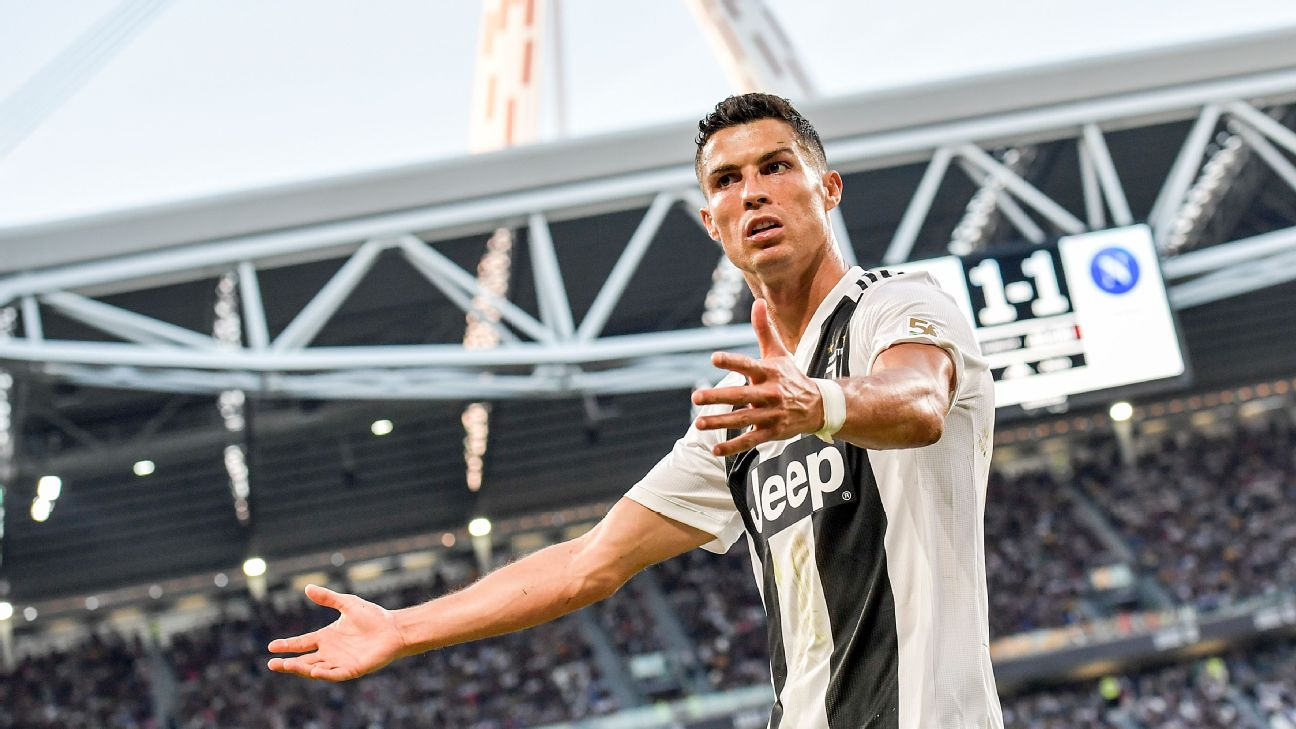Cristiano Ronaldo during the Serie A match between Juventus and SSC Napoli