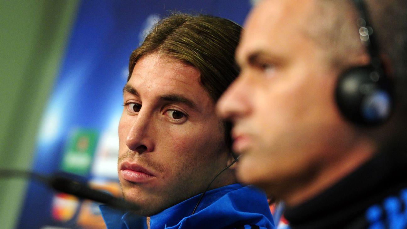 Sergio Ramos and Jose Mourinho