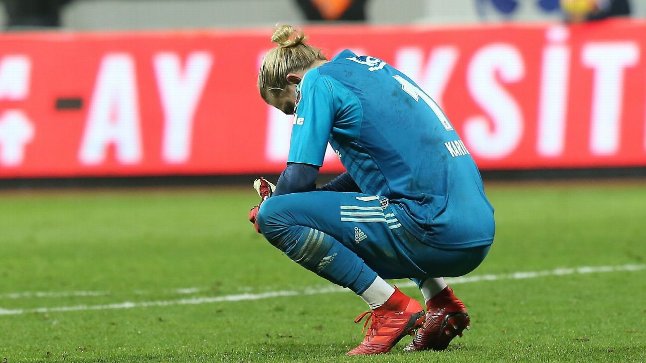 Loris Karius has given up 37 goals for Besiktas this season, while keeping just five clean sheets in 21 games.