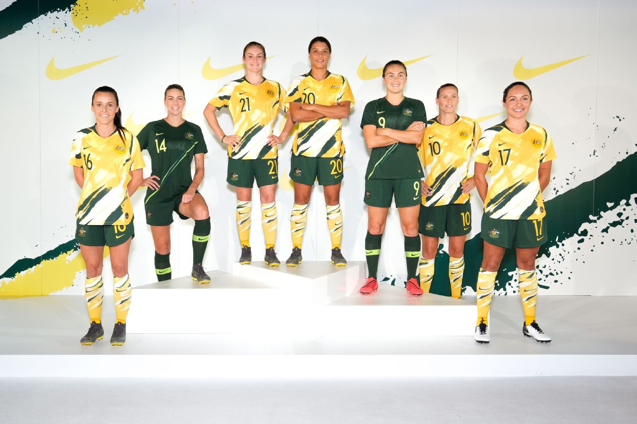 The Matildas officially unveiled their new World Cup kits for this summer's tournament in France.