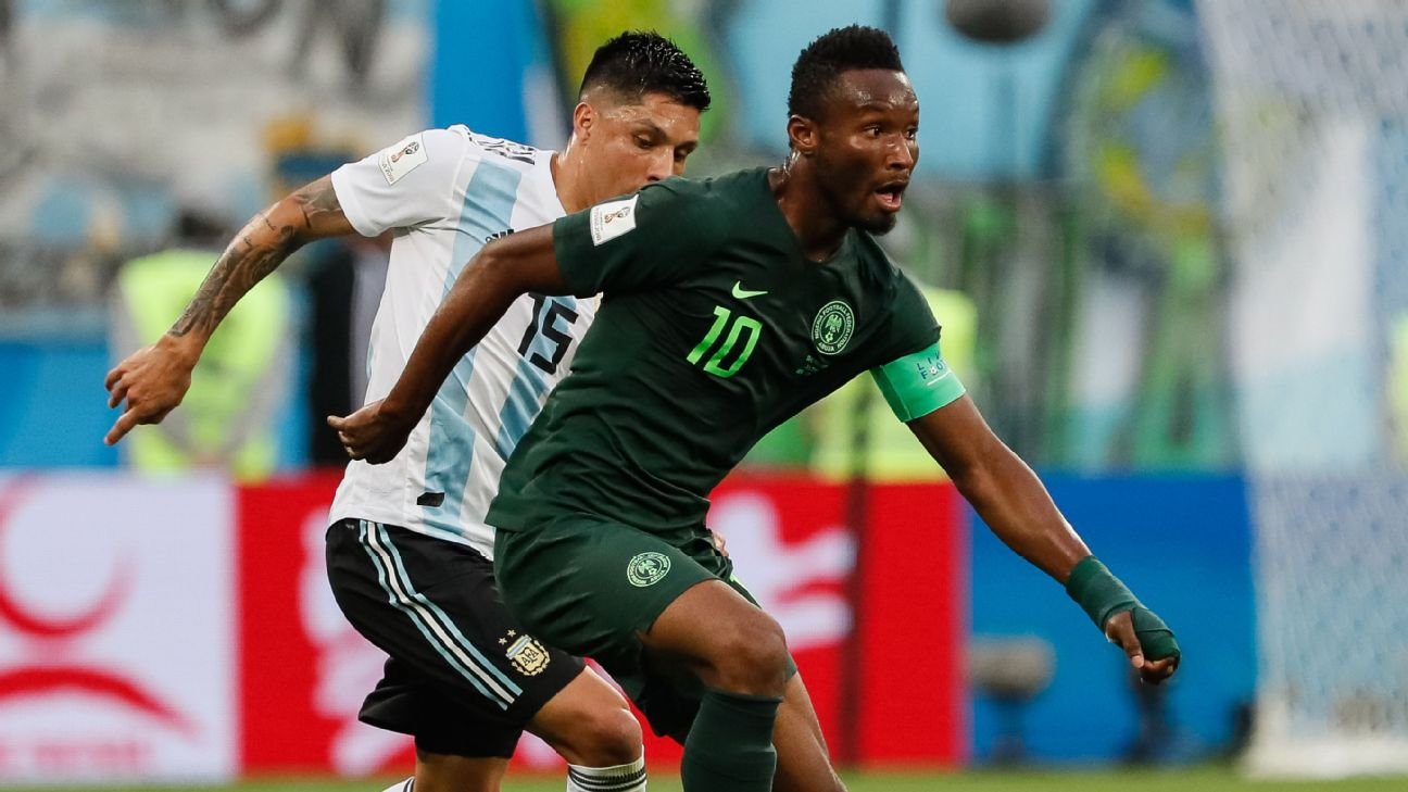 Nigeria captain John Obi Mikel has not played for the Super Eagles since the World Cup Group D defeat by Argentina in St. Petersburg.