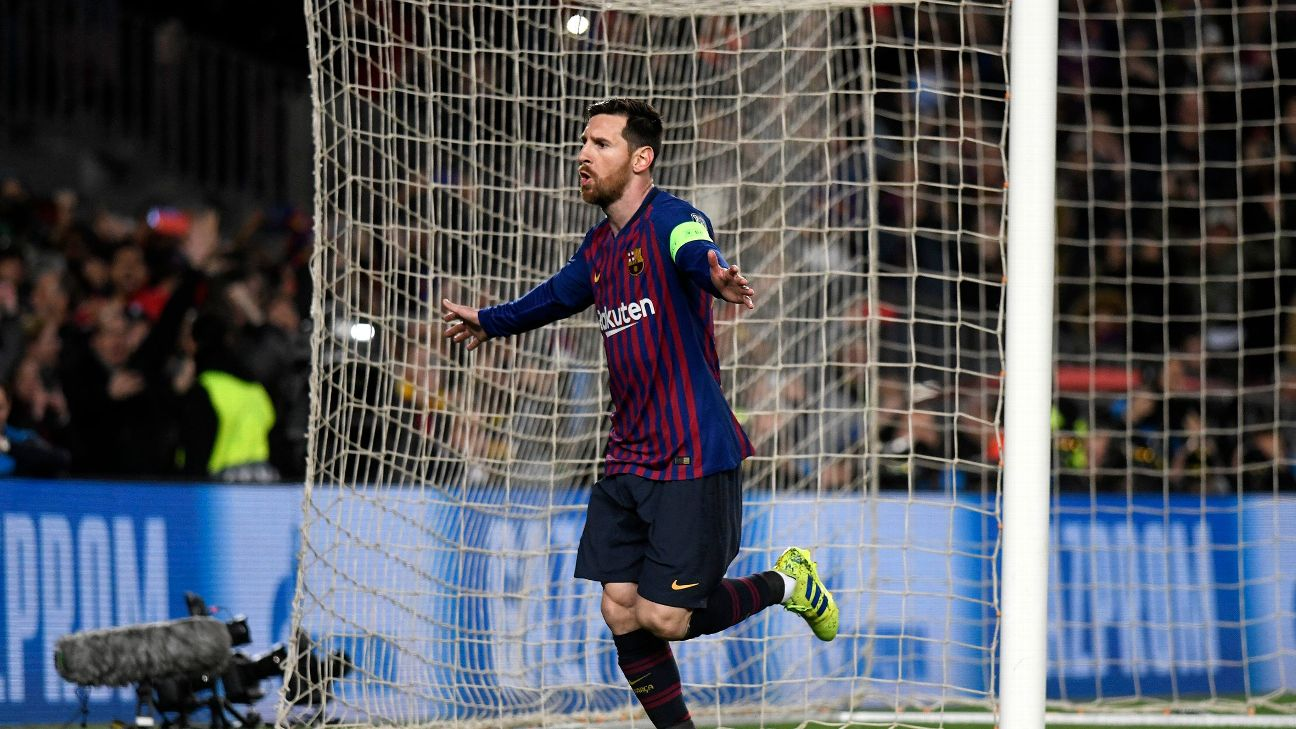 Messi has scored at least 40 goals in each of his last 10 seasons for Barcelona.