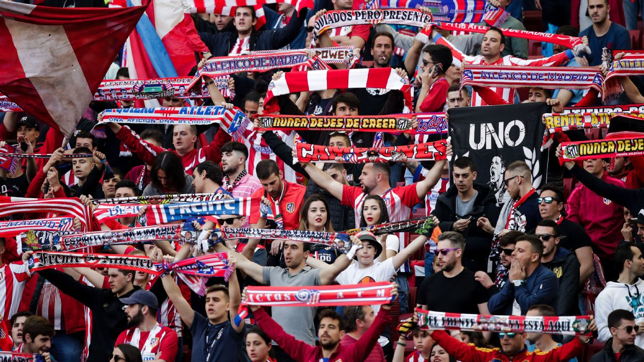 Supporters of Atletico Madrid