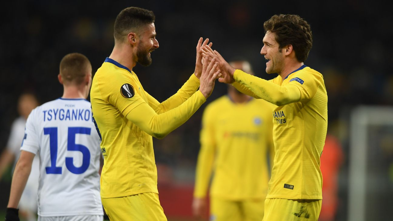 Dynamo Kiev vs. Chelsea - Football Match Report - March 14, 2019 2