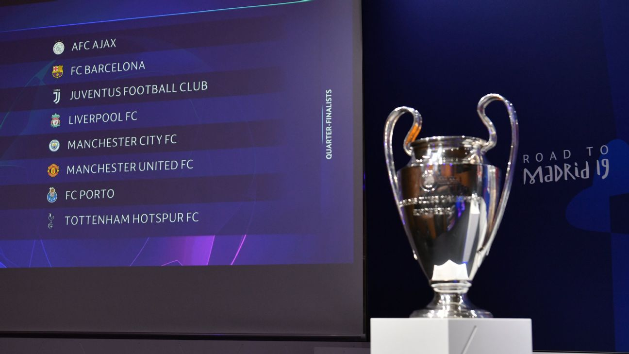 A general view ahead of the UEFA Champions League 2018/19 Quarter-final,