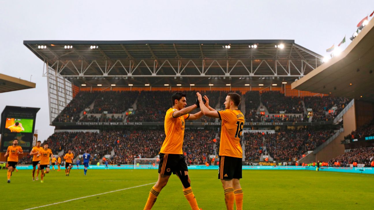 Diogo Jota and Raul Jimenez have combined for 18 goals and 10 assists so far this season for Wolves.