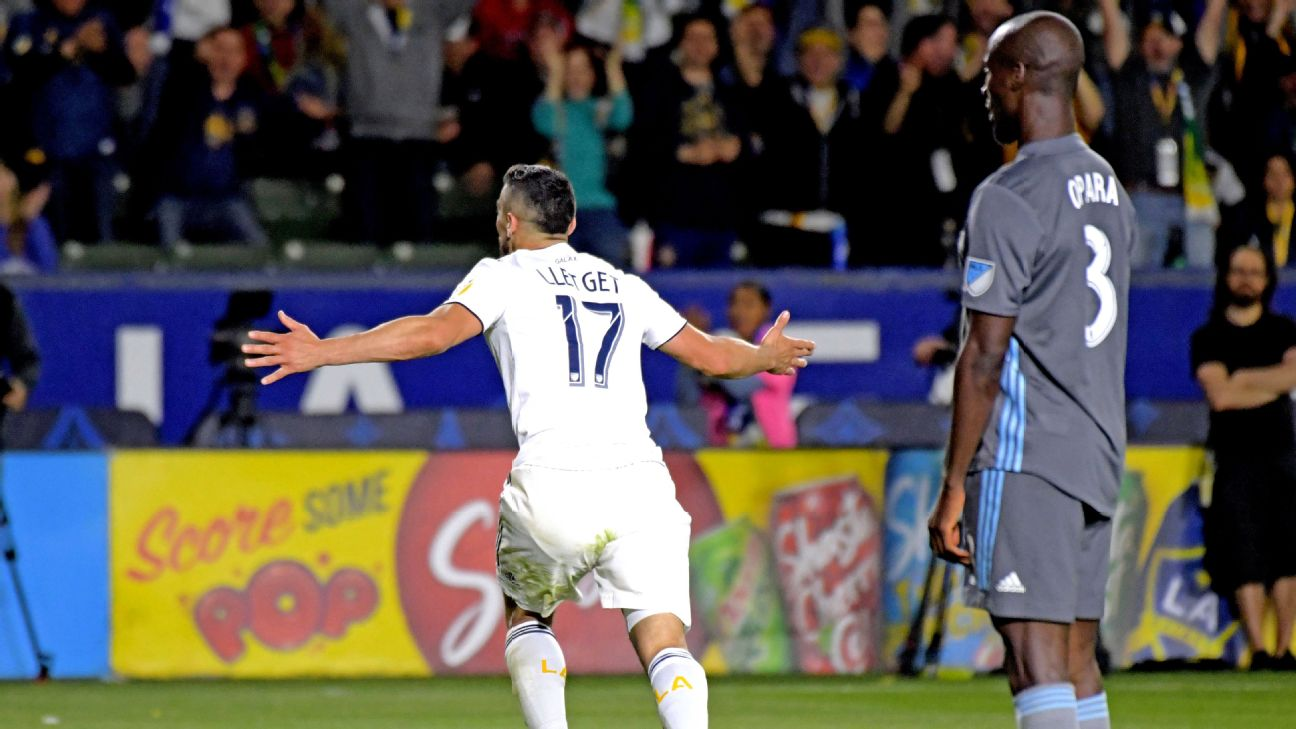Sebastian Lletget hits late winner as LA Galaxy edge Minnesota United