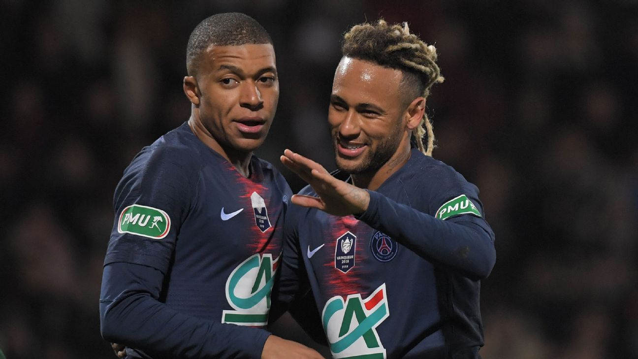 Kylian Mbappe and Neymar, PSG