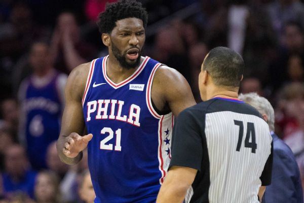 Smart ejected after 'cheap shot' shove of Embiid
