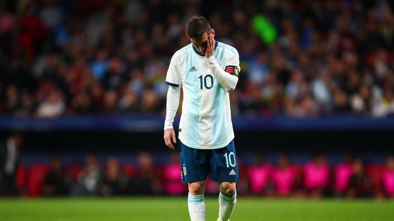 No matter how well things are going at club level, Lionel Messi always seems to find frustration while wearing the Argentina shirt.