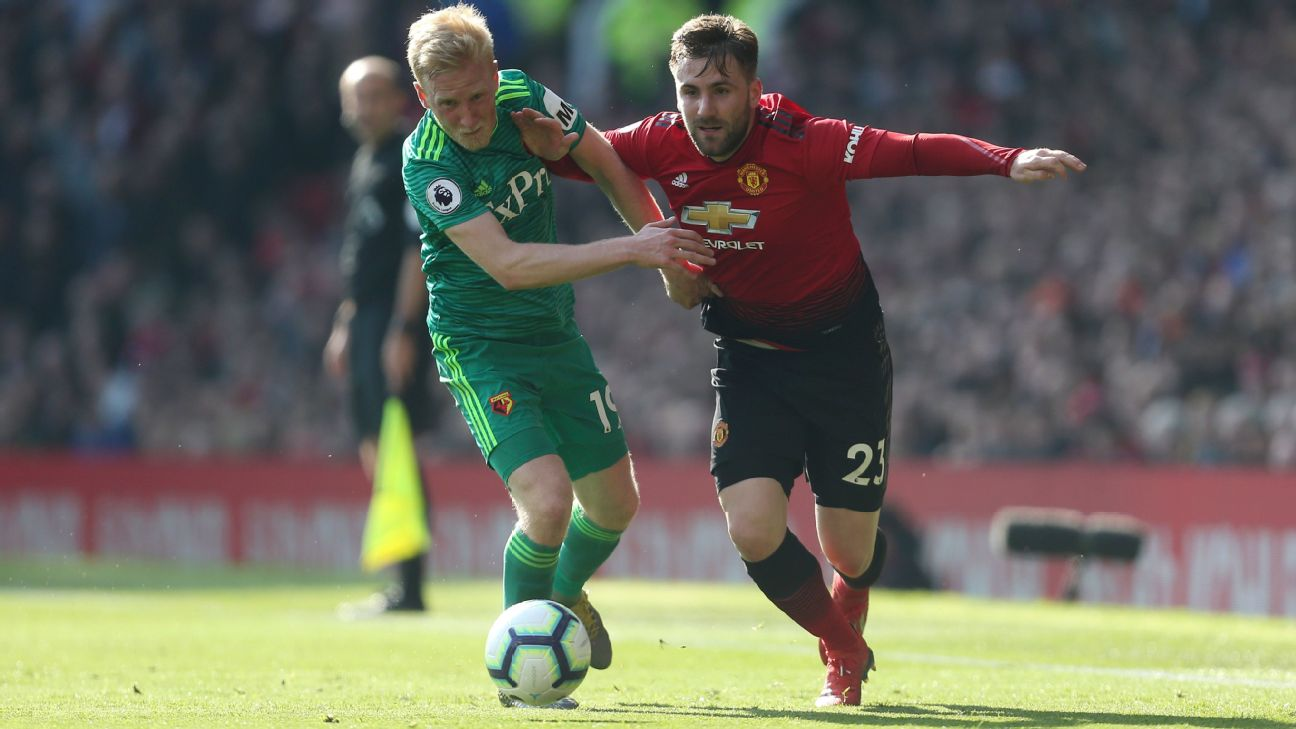 Luke Shaw stood out for Manchester United in their Premier League win against Watford.