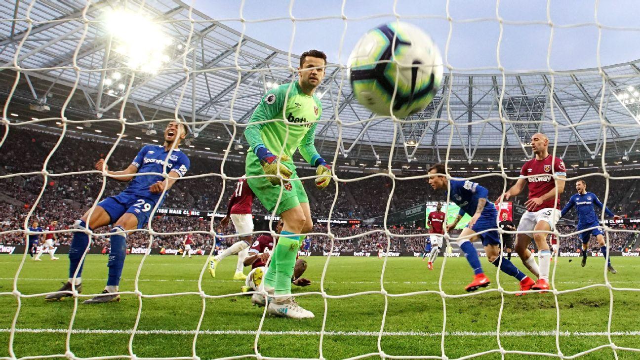 West Ham United vs. Everton - Football Match Report - March 30, 2019 2