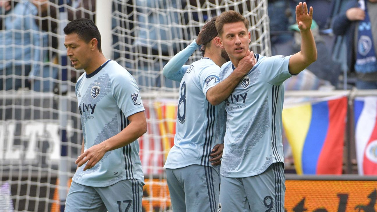 Nemeth's hat trick powers Sporting Kansas City's rout of Montreal Impact