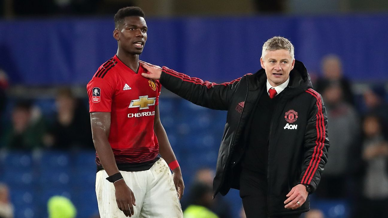Ole Gunnar Solskjaer and Paul Pogba, Manchester United