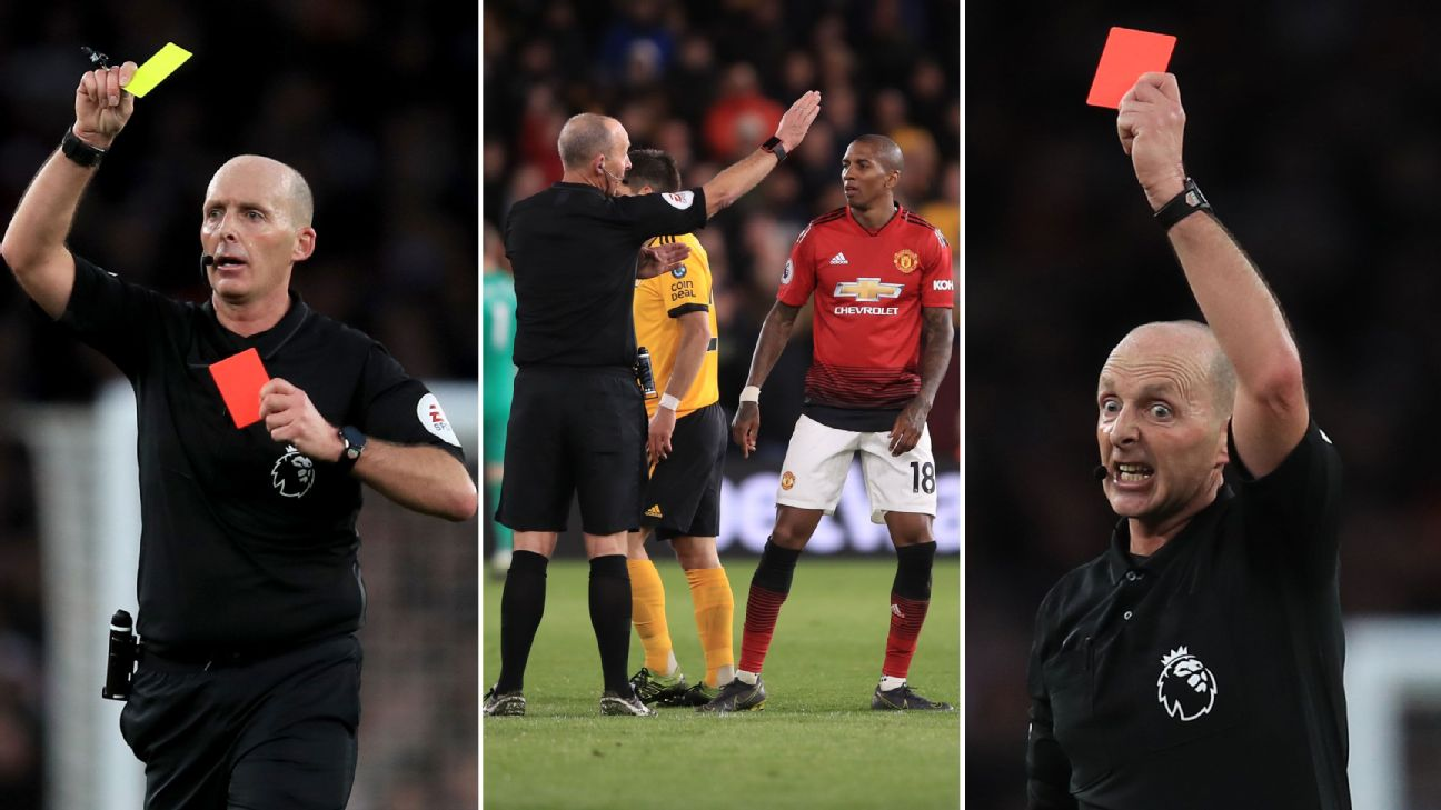 'Off you pop' The best of referee Mike Dean's 100 Premier League red cards 2