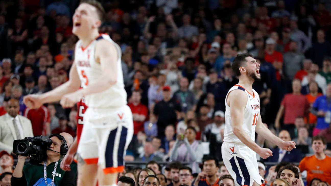 Where does Virginia rank among all the national championship