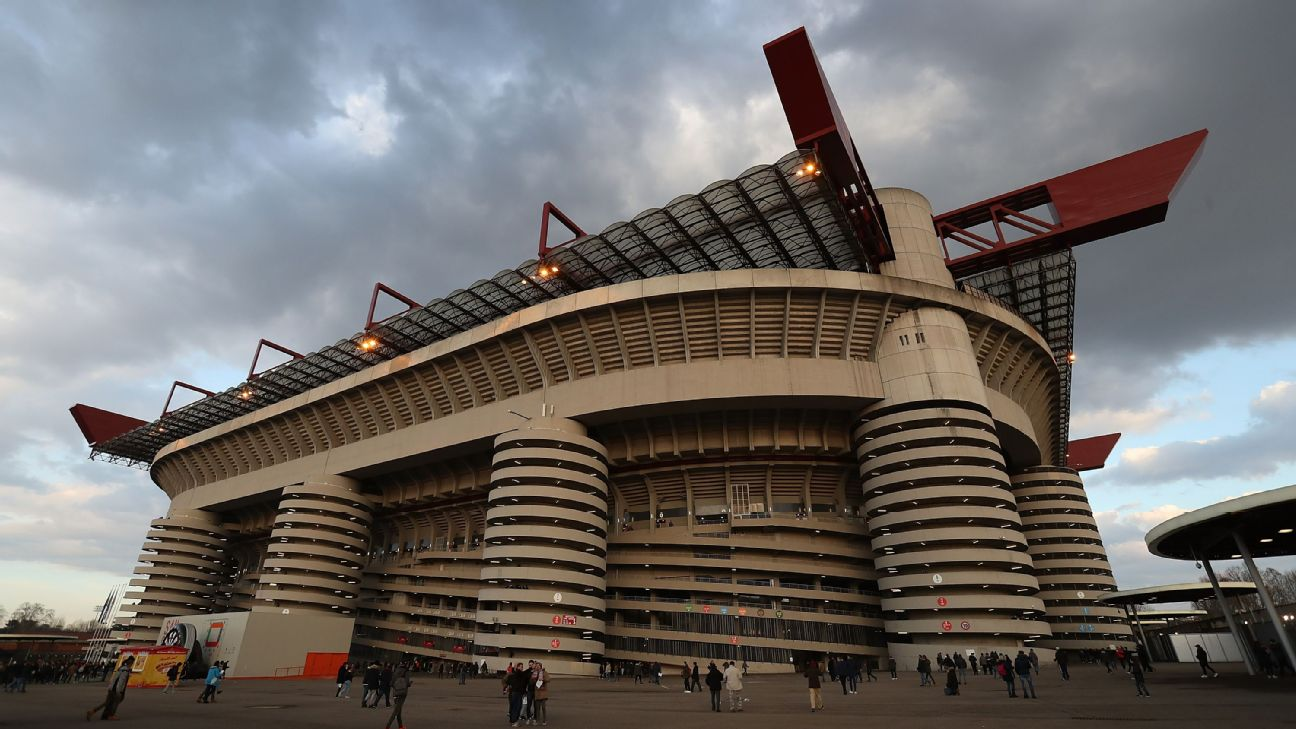 A general view of San Siro