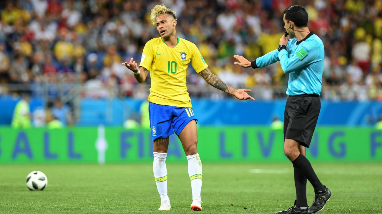 8b995dbae Neymar limps out of Brazil training before Copa