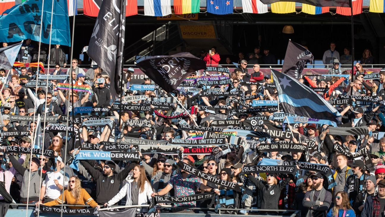 Minnesota United fans sing Wonderwall after a win in MLS.