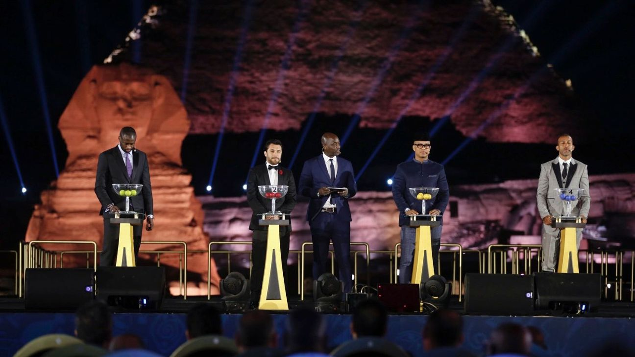 The Africa Cup of Nations draw took place on Friday in front of the Pyramids of Giza in Egypt.