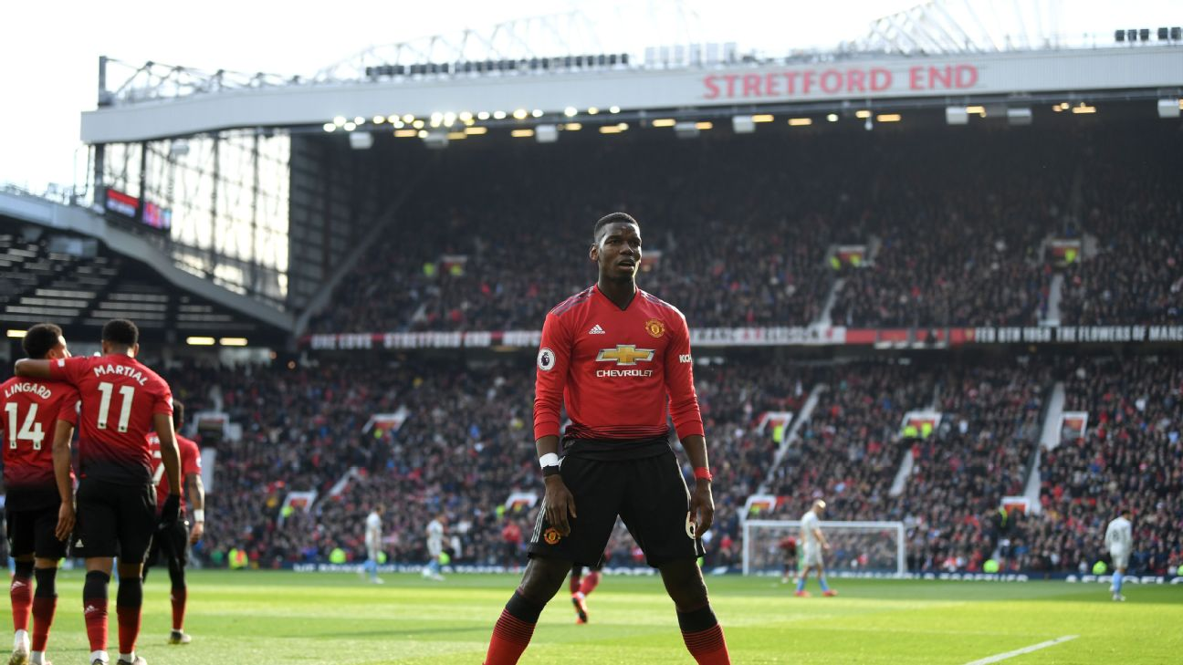 Paul Pogba held his nerve to convert a pair of penalties in what was a must-win for Man United in their pursuit of a top-four place.
