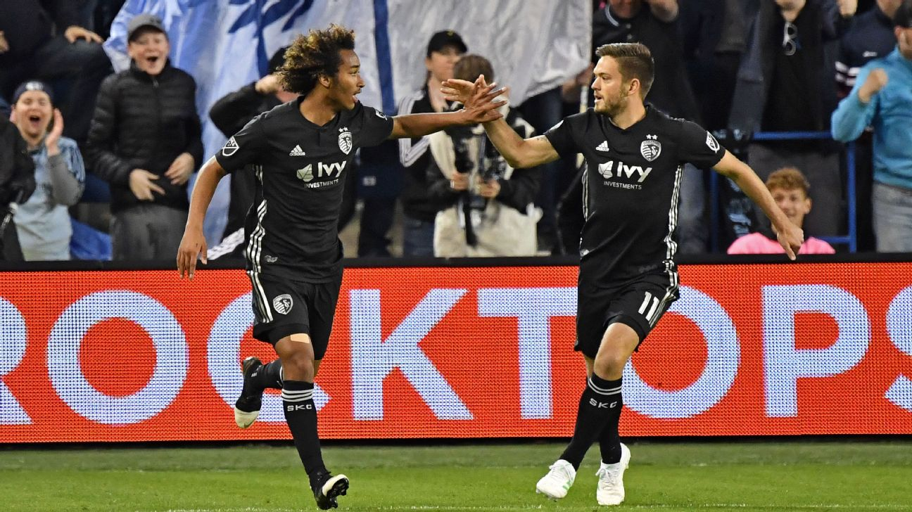 Sporting KC's Gianluca Busio, 16, scores again to salvage point vs. New York Red Bulls