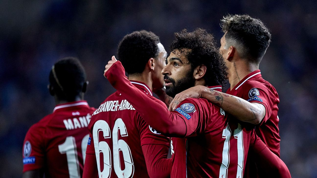 Mo Salah bagged Liverpool's second as the Reds ran away from Porto 4-1 on the night to win the tie 6-1 on aggregate.
