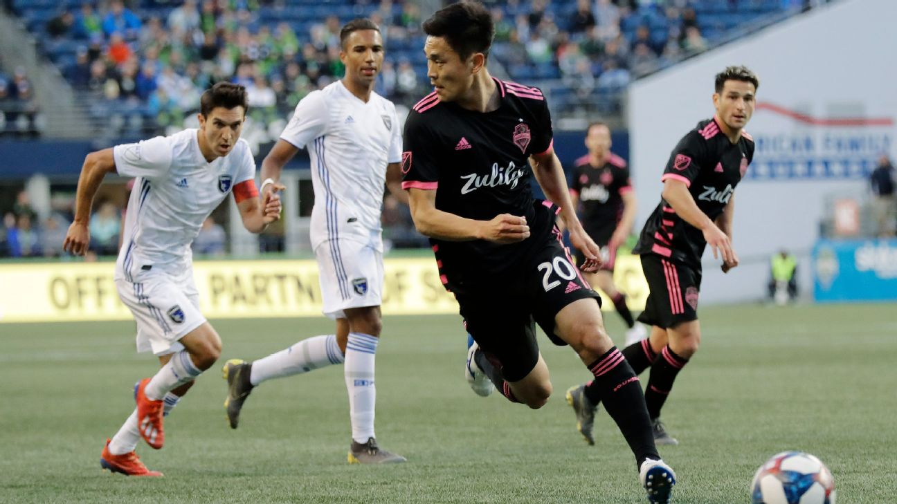 Sounders escape first-half two-goal hole, tie Earthquakes