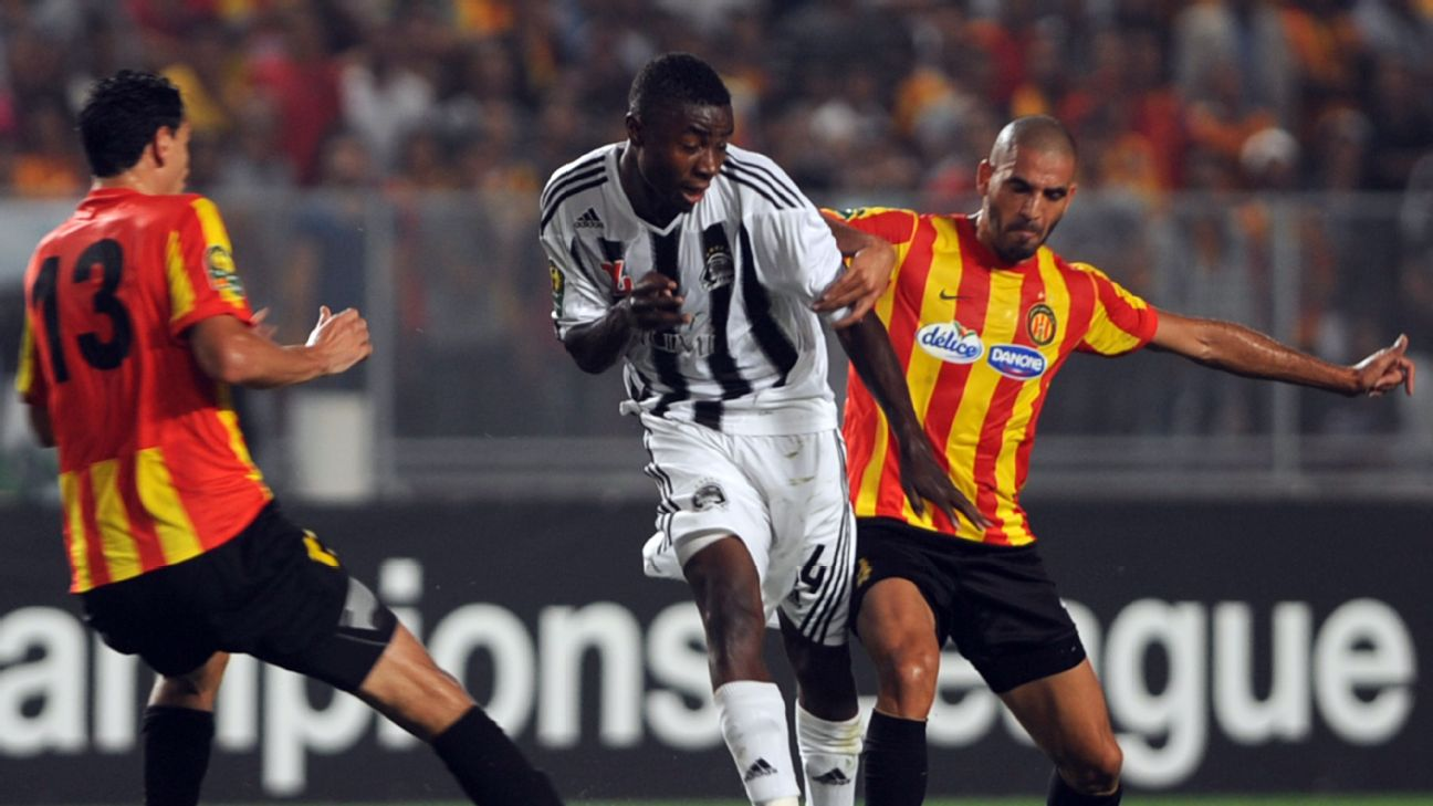 TP Mazembe of the DRC and Esperance of Tunisia have clashed a number of times in the CAF Champions League, here in the semifinals in 2012.