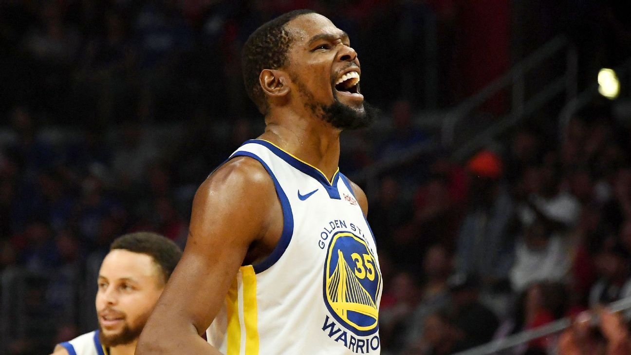 fe4aa44beb9 Ultimate weapon  Durant scores 50 in clincher