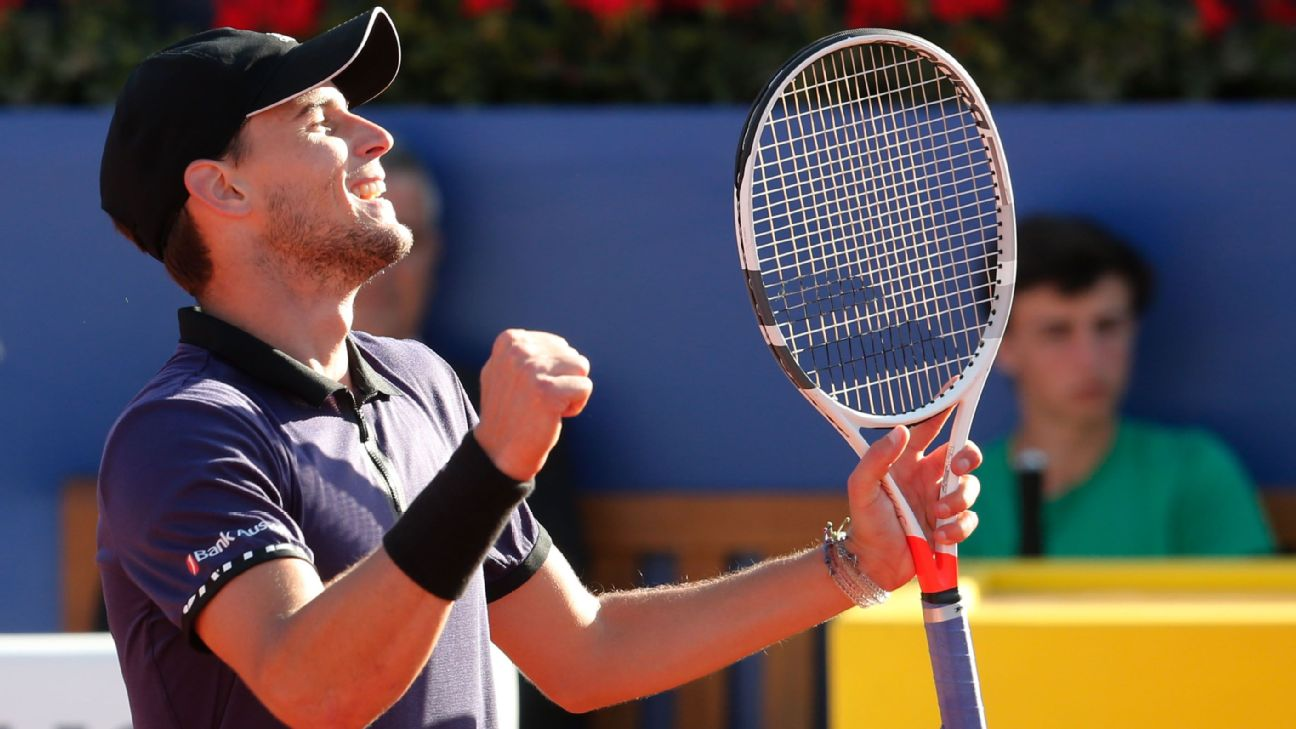 860b78221f952 Russia s Daniil Medvedev beat Japan s Kei Nishikori to make the finals of  the Barcelona Open